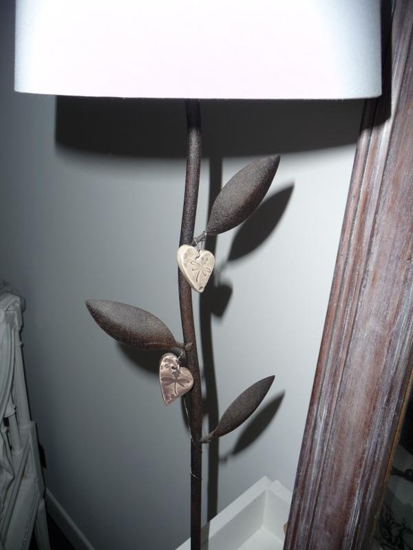 lampe avec pampilles coeur