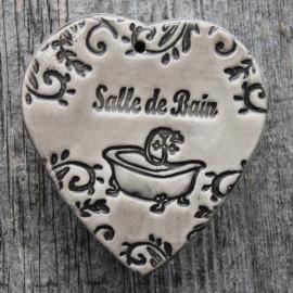 """faïence coeur """"Salle de bain"""" (vieille baignoire)"""