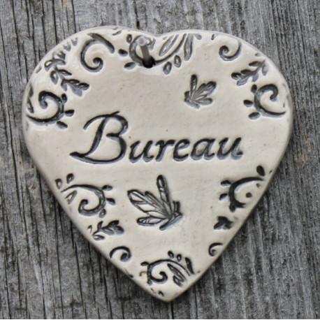 """faïence coeur """"Bureau"""" (papillons)"""