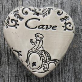 """faïence coeur """"Cave"""" (tonneaux)"""