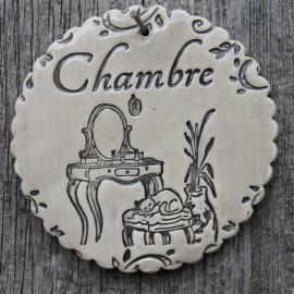 "faïence ronde ""Chambre"" (boudoir)"