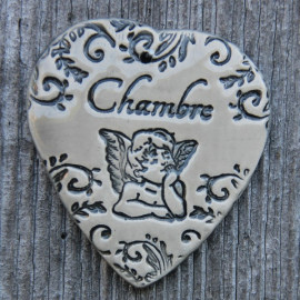 "faïence coeur ""Chambre"" (ange)"