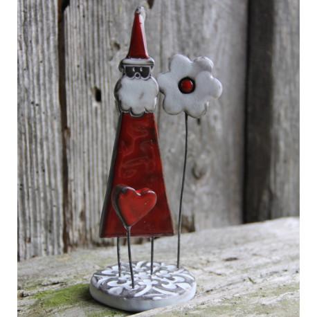 """""""Père Noël"""" (Petit modèle) - sur socle"""