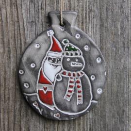 """Boule déco """"Père Noël"""" (grand modèle) - Bonhomme de Neige"""
