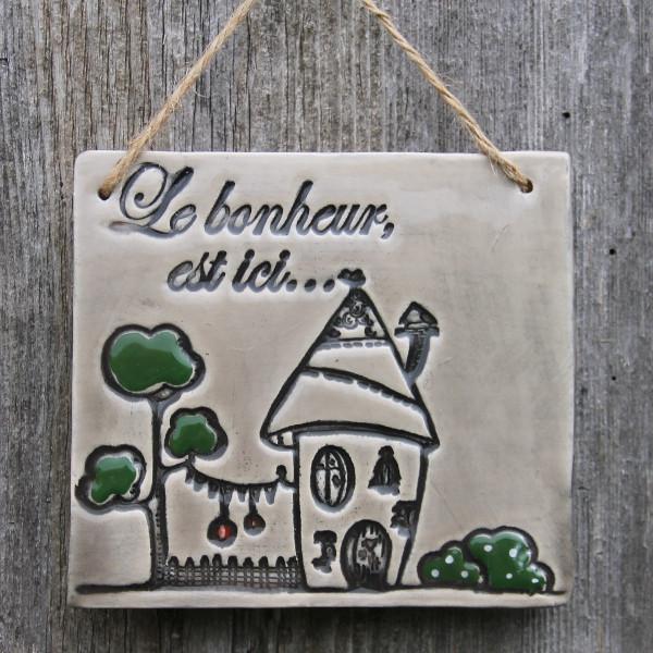 """Cadre """"Le bonheur, c'est ici """" - Thème """"Maison"""""""